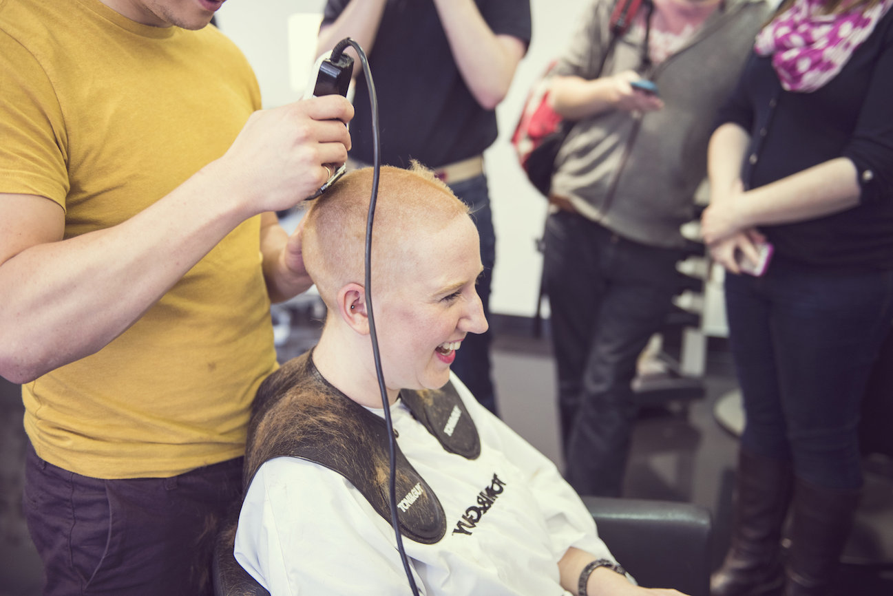 buzzcutchong head shave Photo courtesy of Amy Davies